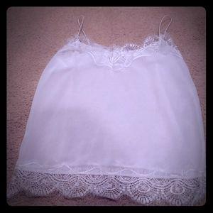 White lace camisole